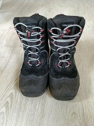 Botas para caminar en nieve Columbia talla 35