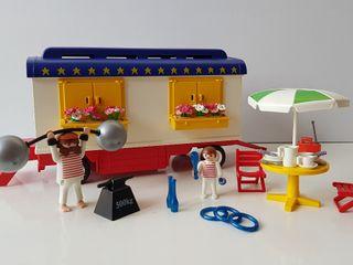 Playmobil 3728 - Caravana del Forzudo del circo -