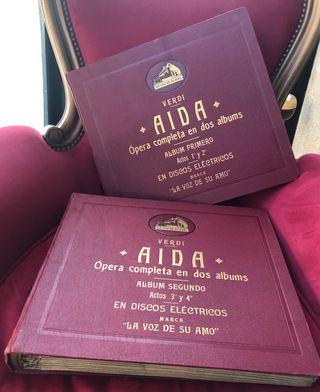 Discos de pizarra Ópera Aida entera SIN ESTRENAR