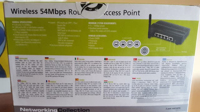 Router Conceptronic 54Mbps
