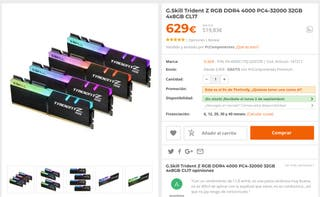 SUPER OFERTA RAM GSkill 3600 _ 32 GB 8 x 4