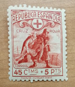 Sello 1938 guerra civil República Española. Nuevo.