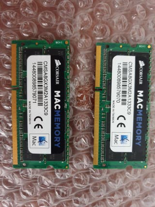 Memoria RAM 8GB MacBook Pro de Corsair 1333Mhz C9