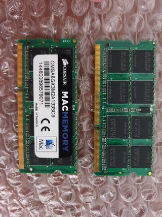 Memoria RAM 8GB MacBook Pro de Corsair 1333Mhz C9