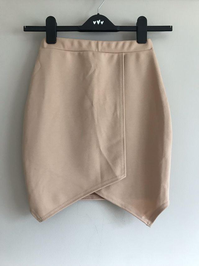 Cream mini skirt