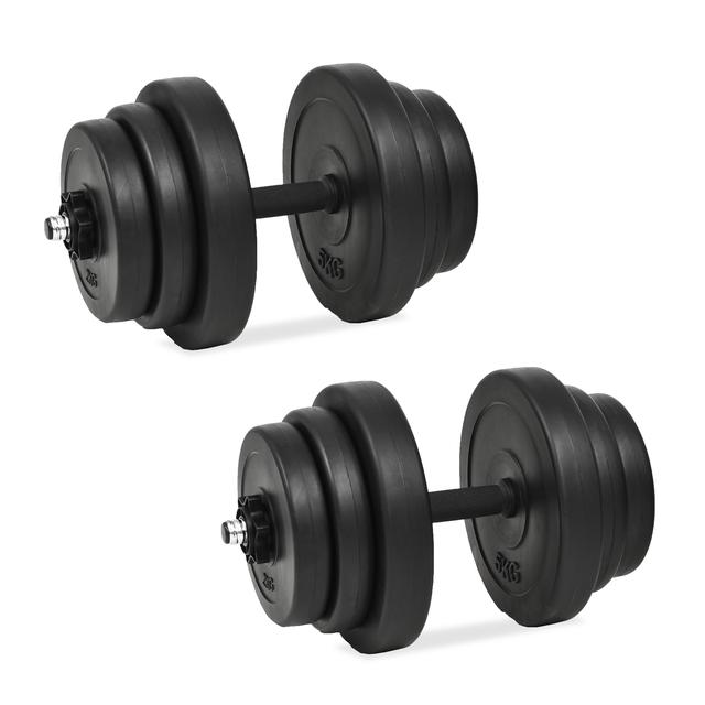 vidaXL Juego de mancuernas 18 piezas 40 kg 91408