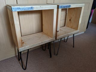 Pair of Rustic Bedside Tables/ Side Tables