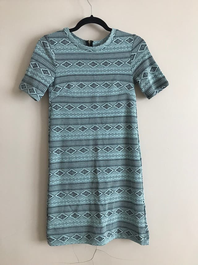 Aztec pattern shift dress