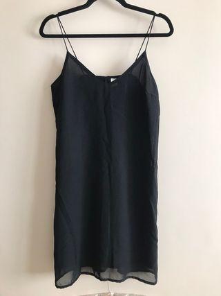 Black cami slip dress