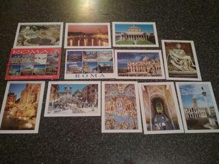 18 postales Roma años 90