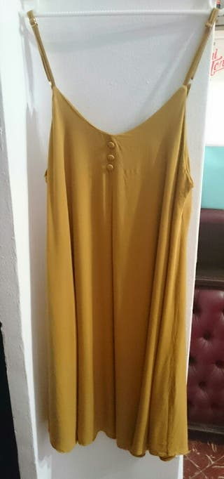 Vestido Verano Mostaza