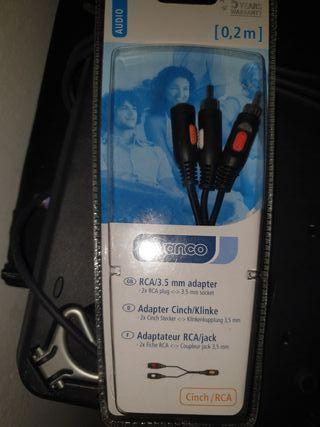 cable audio doble salida RCA a jack