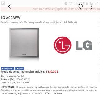 Aire diseño casi nuevo artcool LG A09AWV inverter