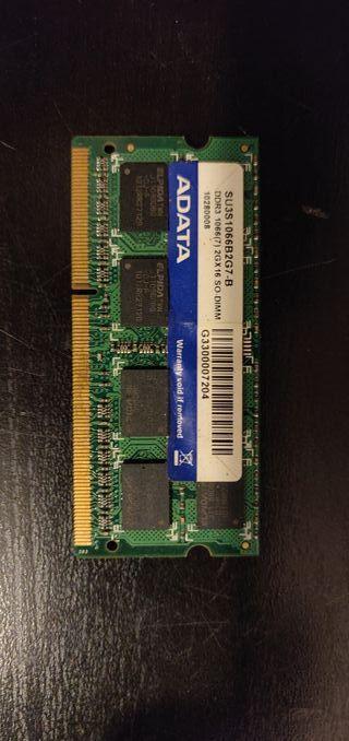 MEMORIA RAM 2 GB DDR3 PARA PORTÁTILES