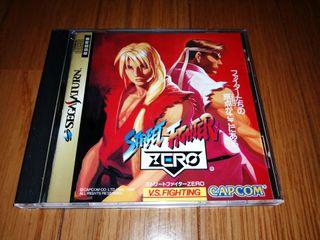 STREET FIGHTER ZERO SEGA SATURN NTSC Jap SAT SPINE