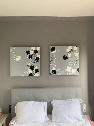 Cuadros sin marco óleo sobre lienzo