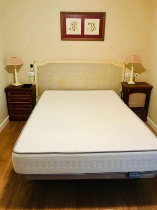 Cama 135 por 2 mts (colchón y somier)