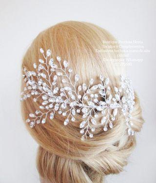 Tocado de lujo de cristal Swarovski tiara novia