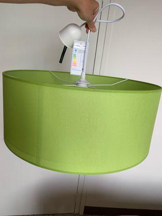 Lámpara techo verde