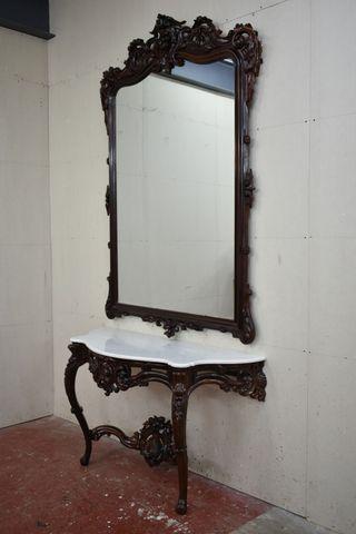 Consola con espejo Isabelina Restaurada