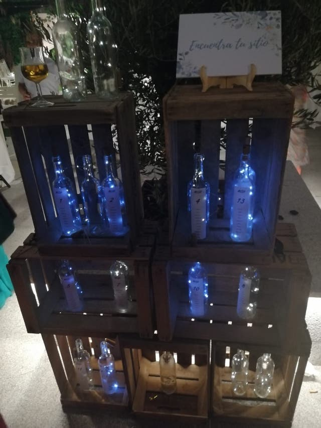 Botellas cristal luces led