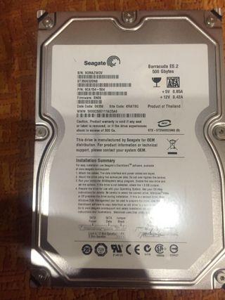 Disco duro sata 500gb
