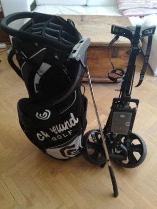 Bolsa golf Cleveland + carro Easiglide steel
