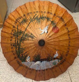 """Sombrilla de decoración """"Arte Oriental"""" de Bambú"""