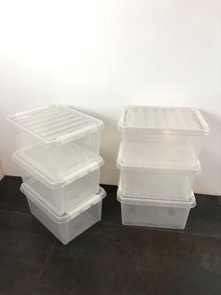 6 cajas apilables de SMARTSTORE