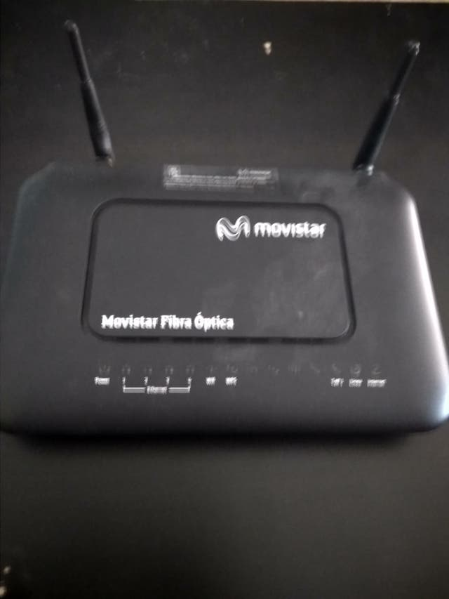 Router Movistar fibra optica