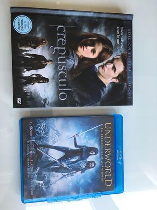 Blue Ray underworld + libro2dvds crepusculo