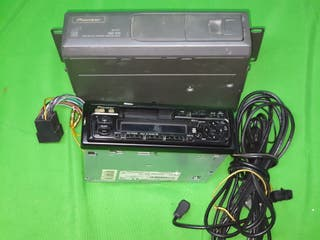 Radio Cassete PIONEER + Cargardor 6 CDs - Vintage