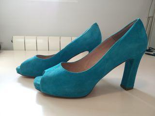Zapatos azul turquesa talla 40