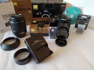 nikon d3300 + 18-55mm + 55-200mm