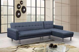 Sofá-cama chaise-longue *265x150cm [KM-16040S]