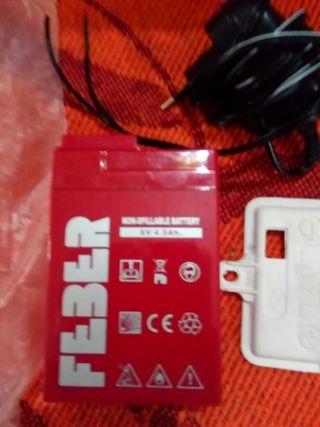 batería de 6 voltios marca feber original