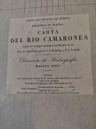 Carta Rio Camarones C occidental de Africs