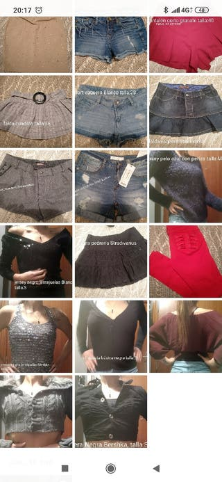 precio por el lote variado:shorts, faldas, jerseys