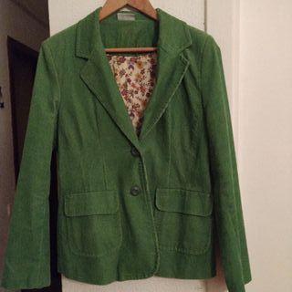 Americana de pana verde vintage