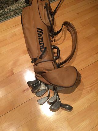 Bolsa de palos de golf de señora y palos y maderas