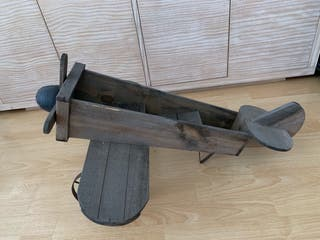 Jardinera Avión decorativo madera