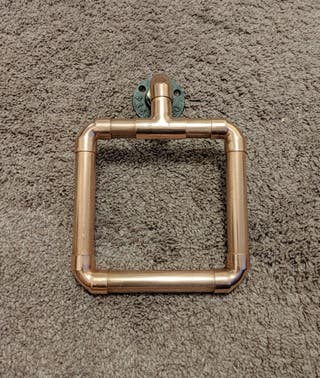 Chunky Copper Pipe Towel Holder