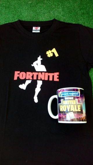 Camiseta Fortnite niños + taza 15€