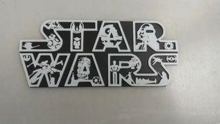 Star Wars logo mural