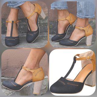 Zapatos tipo sandalias de tacón Alto y grueso con