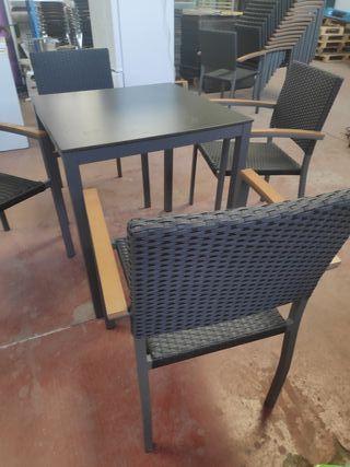 sillas rattan terraza