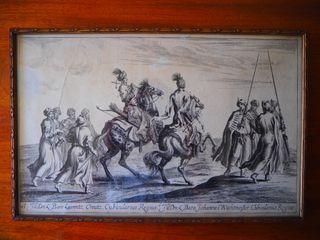 Grabado Siglo XVII. Suecia. Carl XI of Sweden