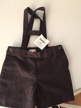 Pantalón corto marrón Gocco. Talla 2-3