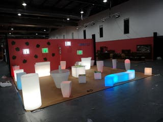 Mesa con iluminacion