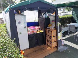tienda cocina para camping